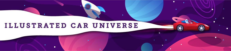 Illustrated car universe