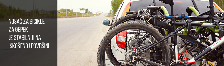 Nosač za bicikle, za gepek