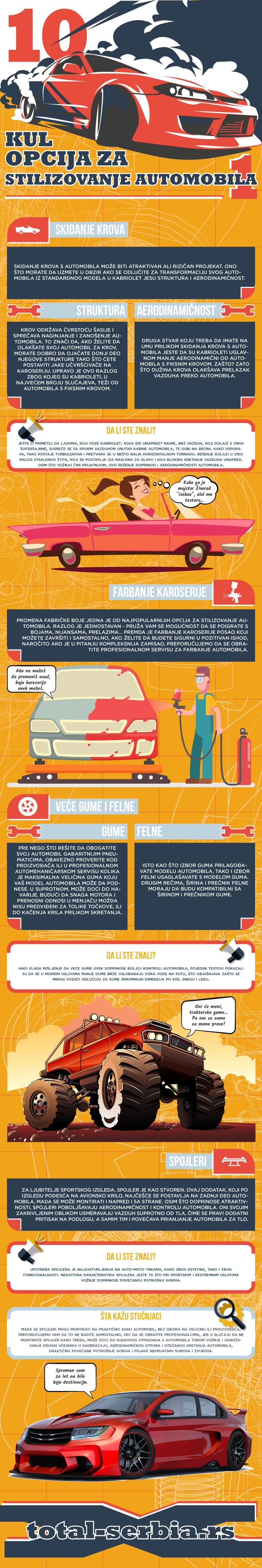 10 kul opcija za stilizovanje automobila